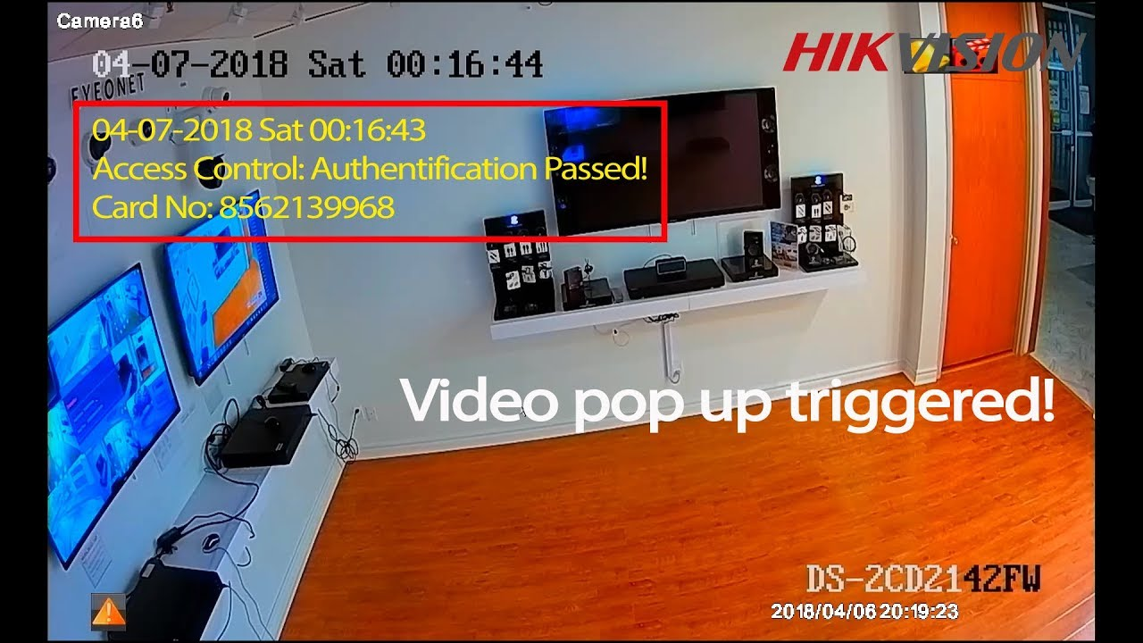 Hikvision Access Control Video Text Overlay and Pop Up