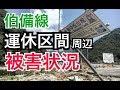 岡山 JR伯備線 運休区間 駅周辺の洪水 浸水 7月末頃の被害状況