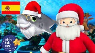 ¡Especial de Navidad!    Tiburón Navideño   Dibujos Animados   Little Baby Bum en Español