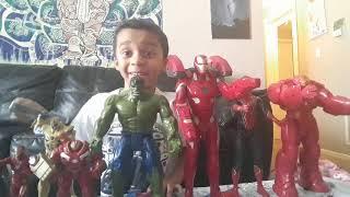 Ro's Review Avengers Infinity War - Hulk Buster, Spider man, Iron man, Hulk, Thanos, Gamora