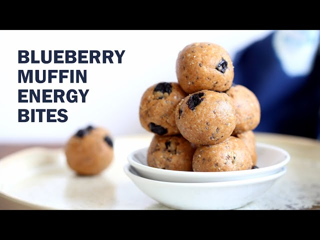 VEGAN BLUEBERRY MUFFIN ENERGY BITES  Grainfree 8 Ingr | Vegan Richa Recipes
