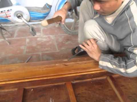 Thợ mộc đục lỗ mộng bằng tay như thế nào? Đồ gỗ Đức Hiền.