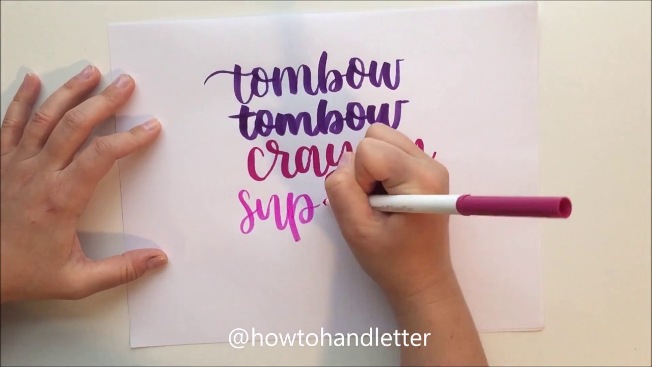 Easy and cheap! hand lettering for beginners using crayola markers