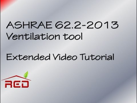 ASHRAE 62 2-2013 Video Tutorial extended version