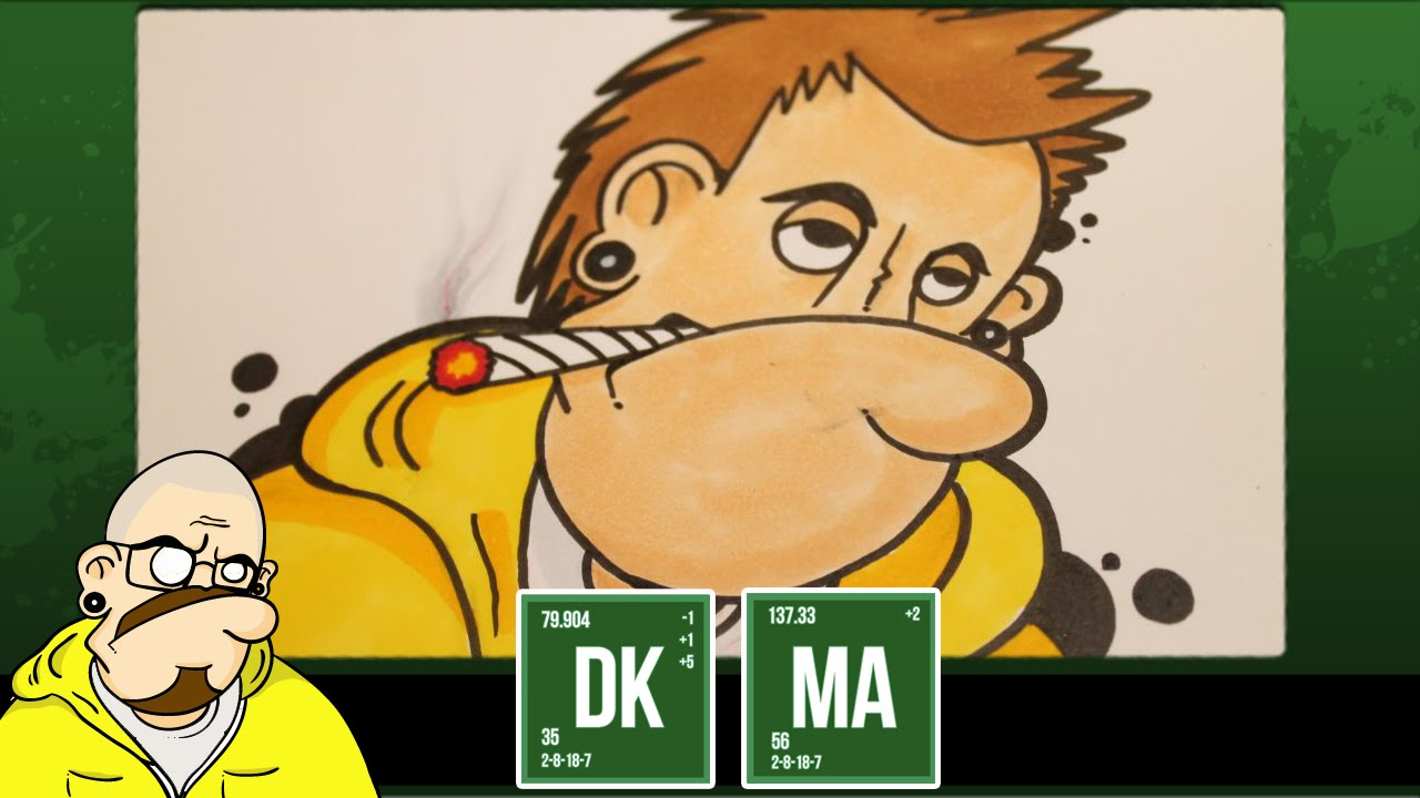 How To Draw Jesse Pinkman As A Dkd Graffiti Character Youtube