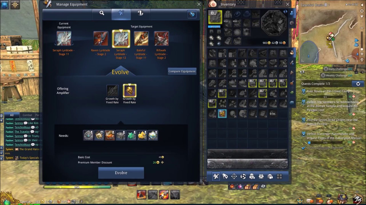 Blade and Soul - Seraph Lynblade Stage 12 Upgrade!