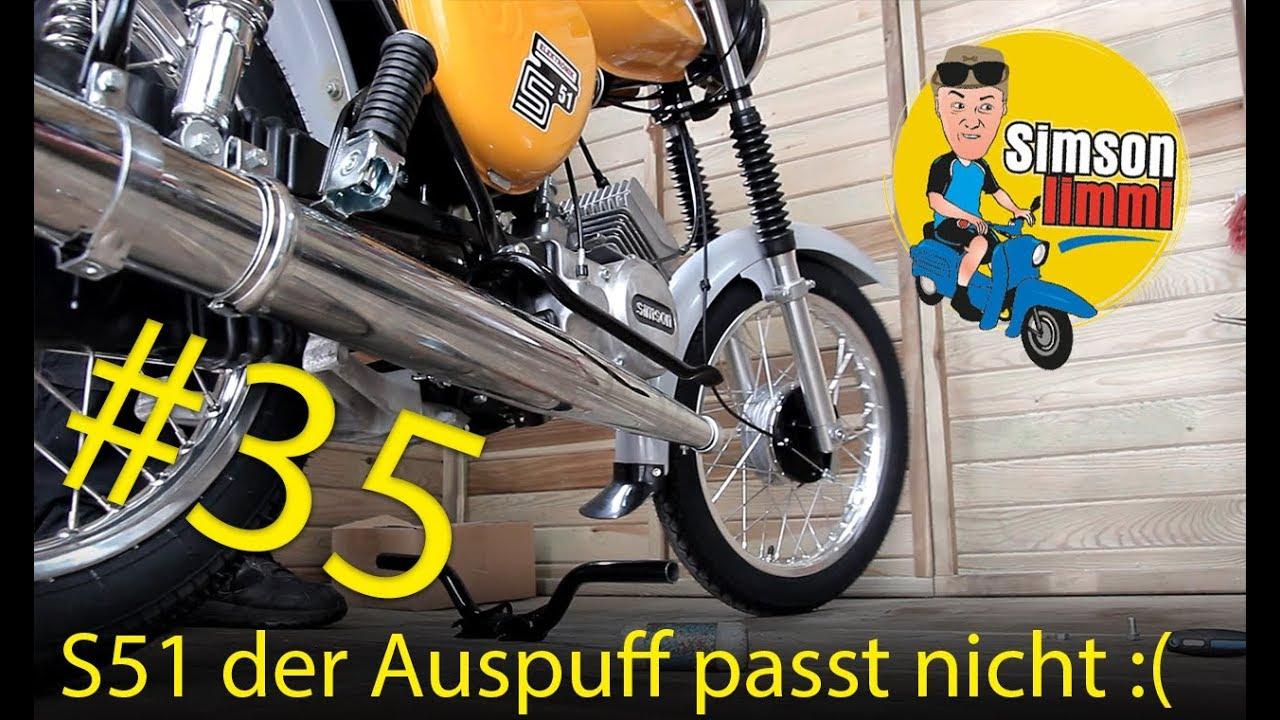 Simson S51 Neuaufbau Teil 35 Der Auspuff Passt Nicht