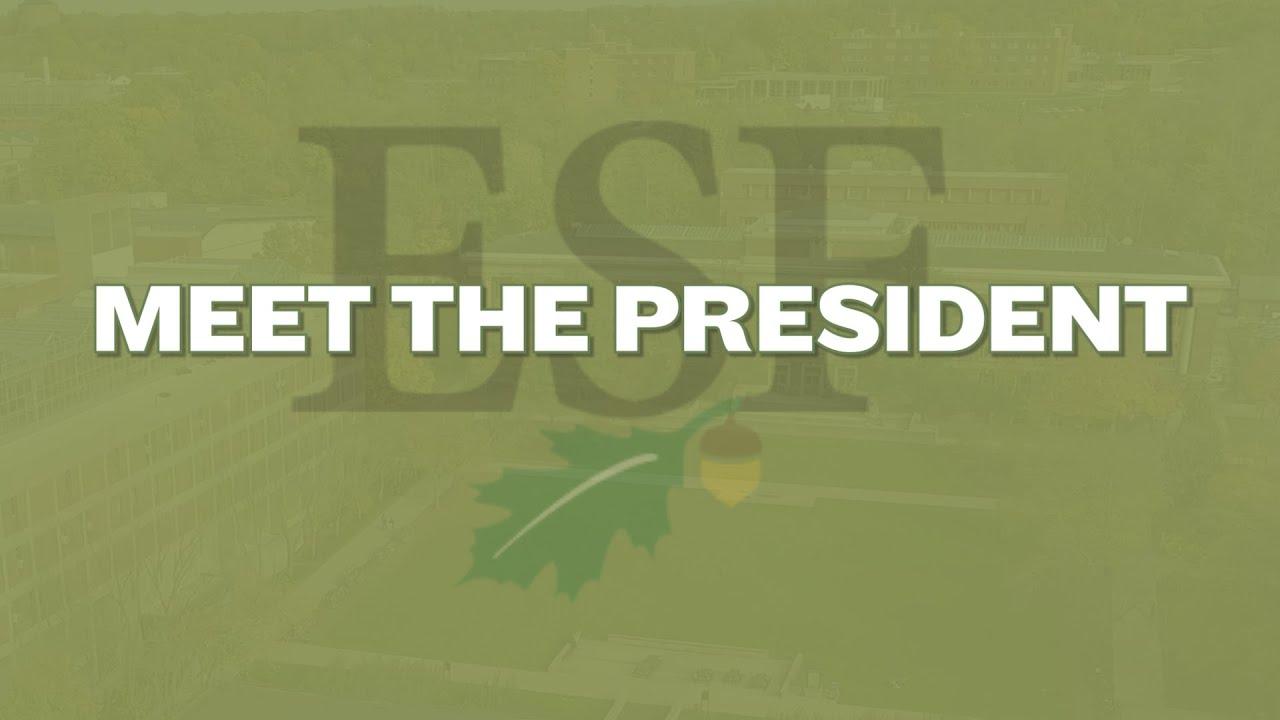 Image for ESF PRESENTS:  Meet the President webinar