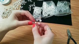 """Копия видео """"Плетение свадебной шпильки из проволоки и бусин. Ручная работа   Jo Handmade"""""""