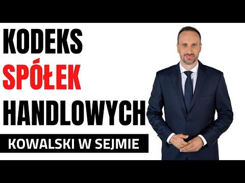 Janusz Kowalski - I czytanie projektu ustawy o zmianie ustawy Kodeks spółek handlowych