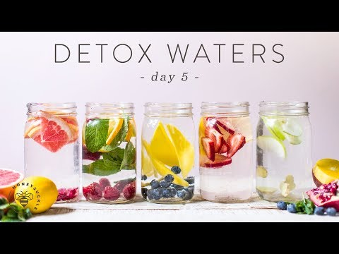 5 DETOX WATERS for Weight Loss, Beauty, & Health 🐝 DAY 5