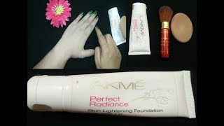 Lakme Perfect Radiance skin lightening Foundation with spf 11 Review ll Janiye kaisa hai ye foundati