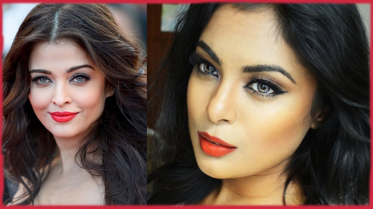 Aishwarya Rai Cannes 2014 Makeup Hair Tutorial Bright Red Lips