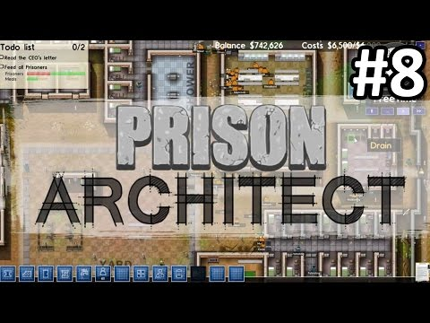 Prison Architect Walkthrough Part 8 (Alpha 32) SHAKEDOWN