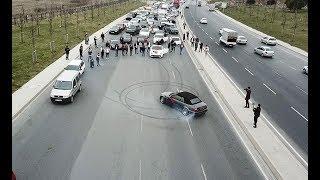 Düğün konvoyundaki lüks araçlı driftçi'ler yakalandı