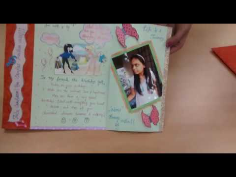 Handmade Birthday Greeting Card With Popup Flowers Youtube