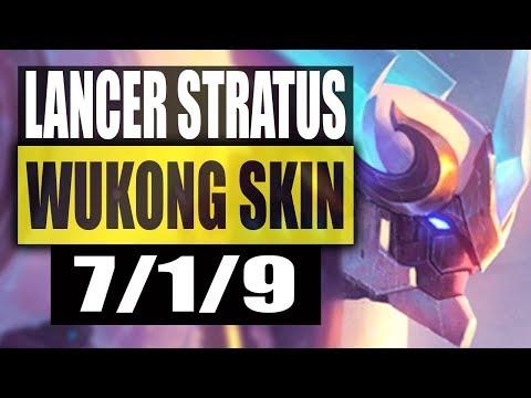 LANCER STRATUS WUKONG GAMEPLAY FT YOUMUUS - NEW BEST SKIN - League of Legends