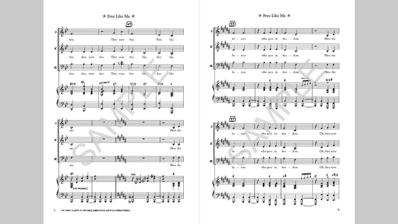 Free Like Me - MusicK8 com Choral Octavo