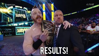 sheamus cashes in money in the bank wwe survivor series 2015 result