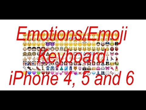 how to add emoticons to iphone 4