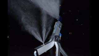 Backyard Snowstorm Intro Home Snow Making Systems Youtube