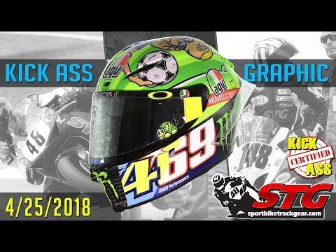 STG Kick Ass Helmet Graphic of the Week 4/25/2018 | Sportbiketrackgear.com
