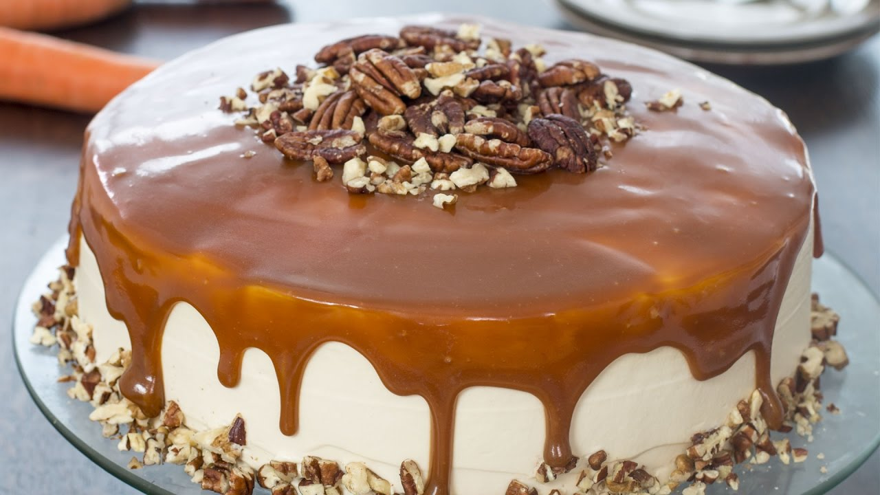 Cake Recipes In Otg Youtube: Caramel Carrot Cake Recipe