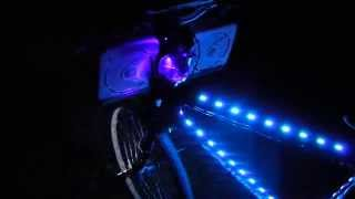 Custom LED Bicycle with Boss audio/Pyle Stereo system, H.D.