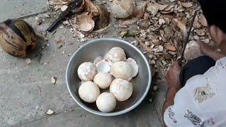 Cách làm mứt dừa đẹp và giòn ngon( phần1)👍 How to make delicious and crispy coconut jam (part 1)