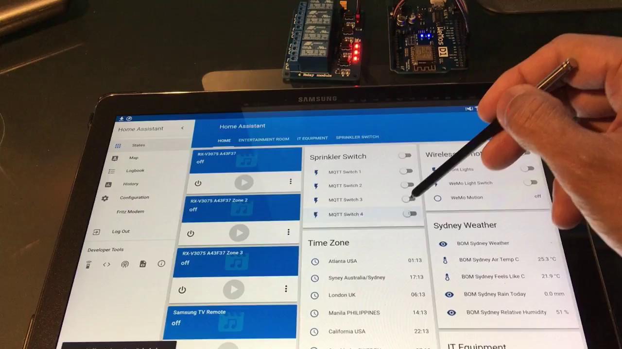 4x Relay Switch + Arduino + Wifi + MQTT with Home Assistant