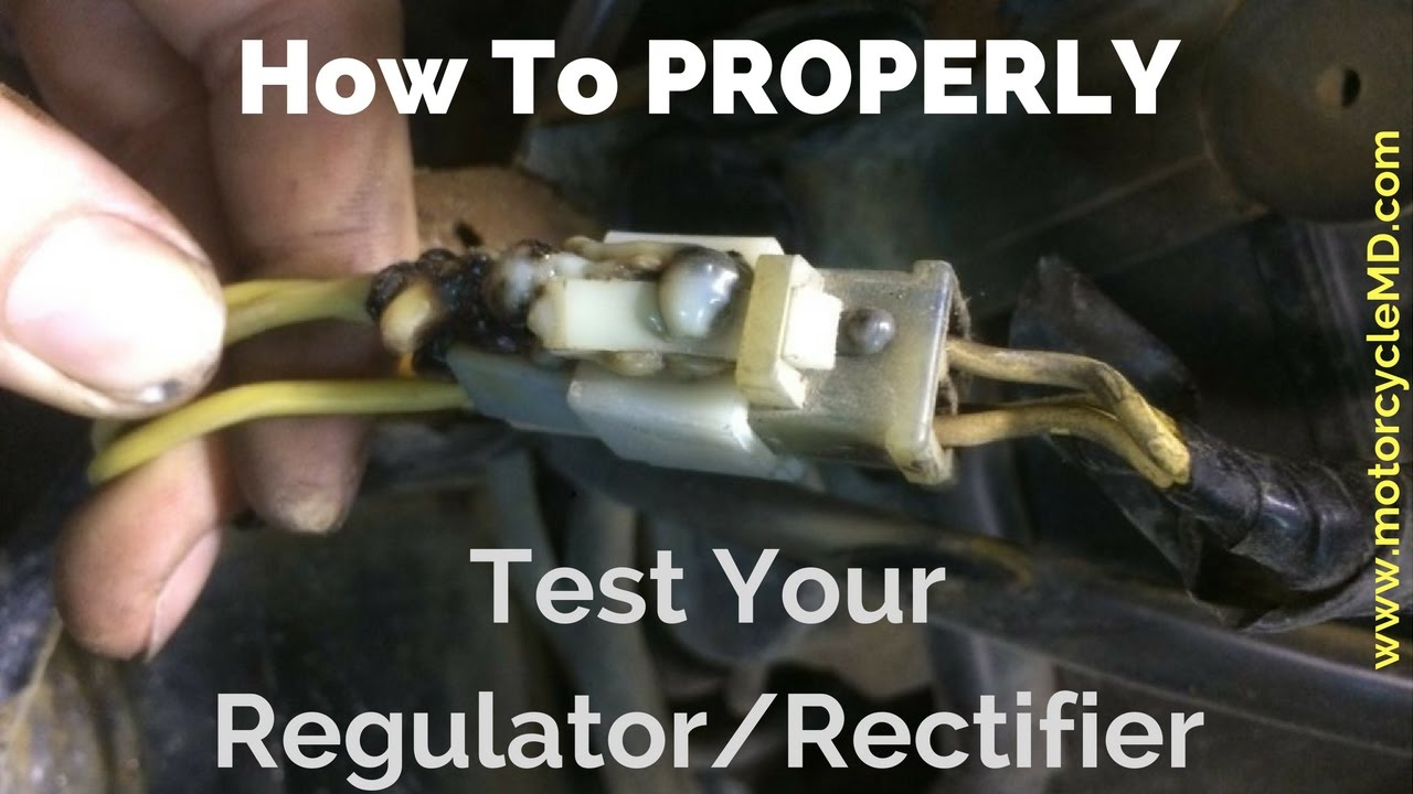 alternator external regulator wiring diagram how to test a regulator rectifier youtube