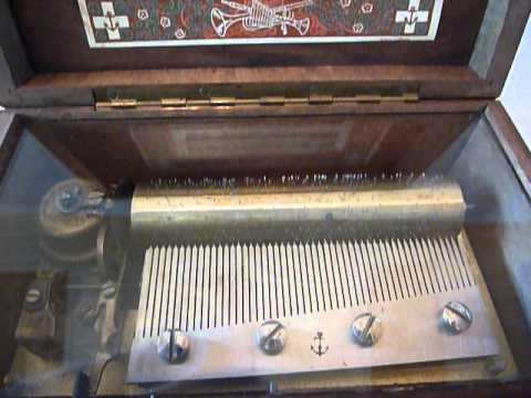 Antique Thorens 3 song 50 note music box