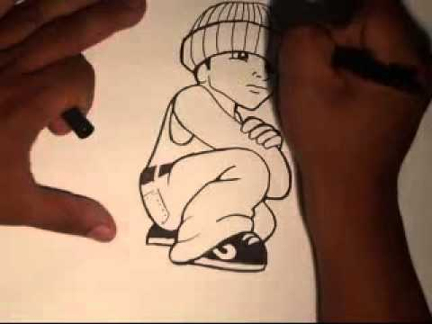 How to draw a cholo loco - step by step thumbnail