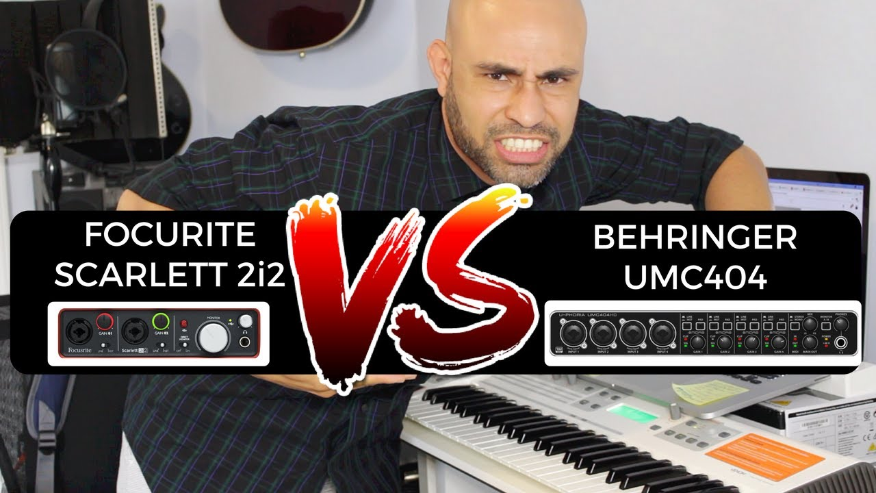 TECH TALK EP. 2 - FOCUSRITE 2i2 VS BEHRINGER UMC404  ???