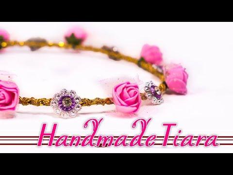 Handmade tiara | DIY flower crown roses | tiara in 3 steps | Super easy