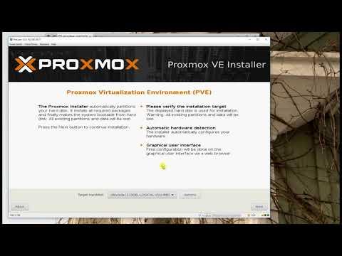 How to install Proxmox 5.1 through HP ilo