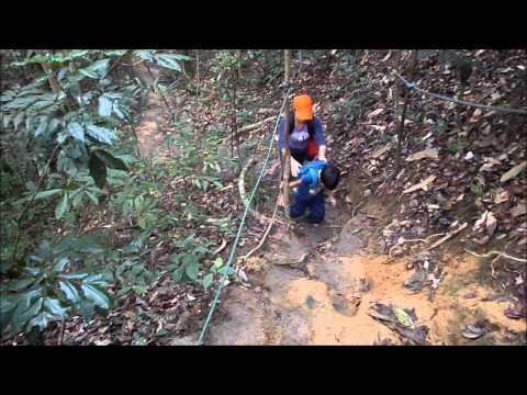 barefoot: family hiking trip
