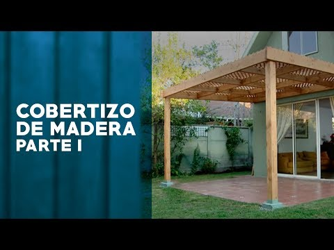 C mo construir un cobertizo de madera primera parte for Cobertizo de madera para terraza