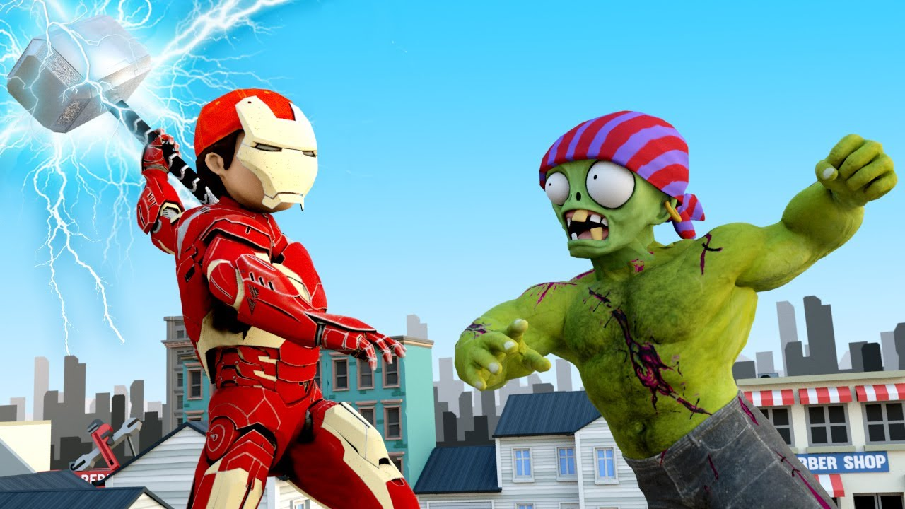IronMan Nick vs Hulk Zombie Mutation - Scary Teacher 3D SuperHero Animation