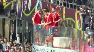 Евро 2012 Вручение кубка сборной Испании