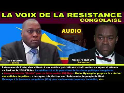 LA VOIX DE LA RESISTANCE DU SAMEDI 09 NOV 2014 AVEC SNE JOSE ILUNGA