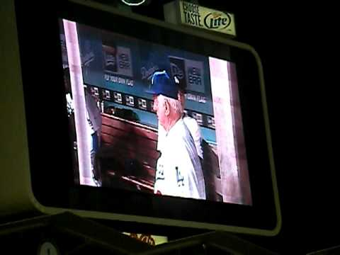 Dodgers, and then Dodger Stadium sings Happy Birthday to Tommy Lasorda!