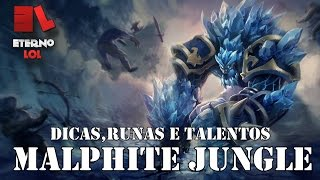 Dicas + Gameplay - MALPHITE JUNGLE - [Pré Season 6] - League of Legends