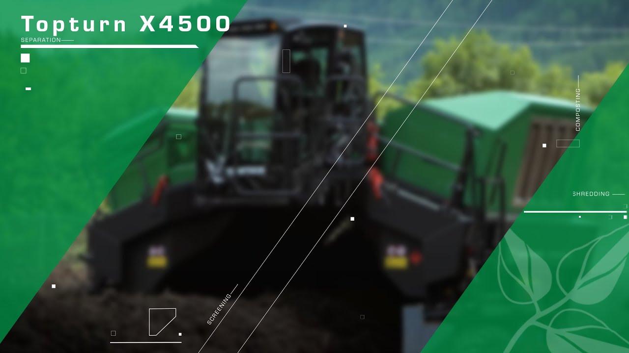 Komptech Topturn X4500 compost turner