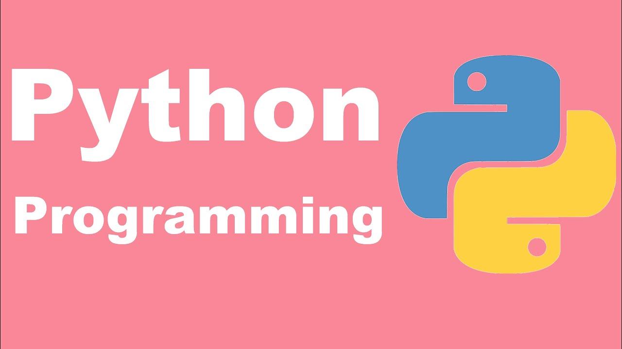 Python Programming Tutorial   Python for Beginners