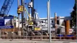 Construction Work In Christchurch New Zealand Underway