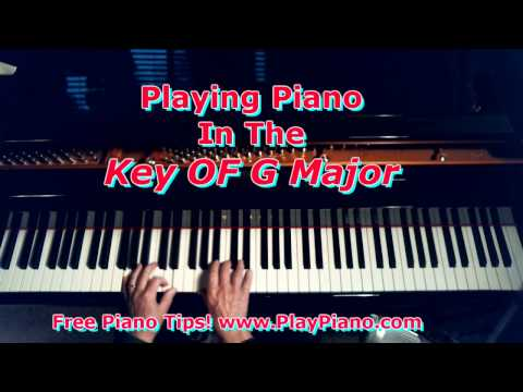 Piano Playing In The Key Of G Major