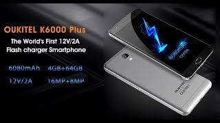 Huge Battery Smartphone OUKITEL K6000 Plus Unboxing & Review