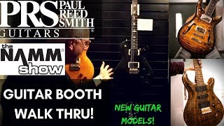 PRS Guitars | Booth Walk-Thru w/ Paul Reed Smith! | NAMM 2018 (New Guitar Models)