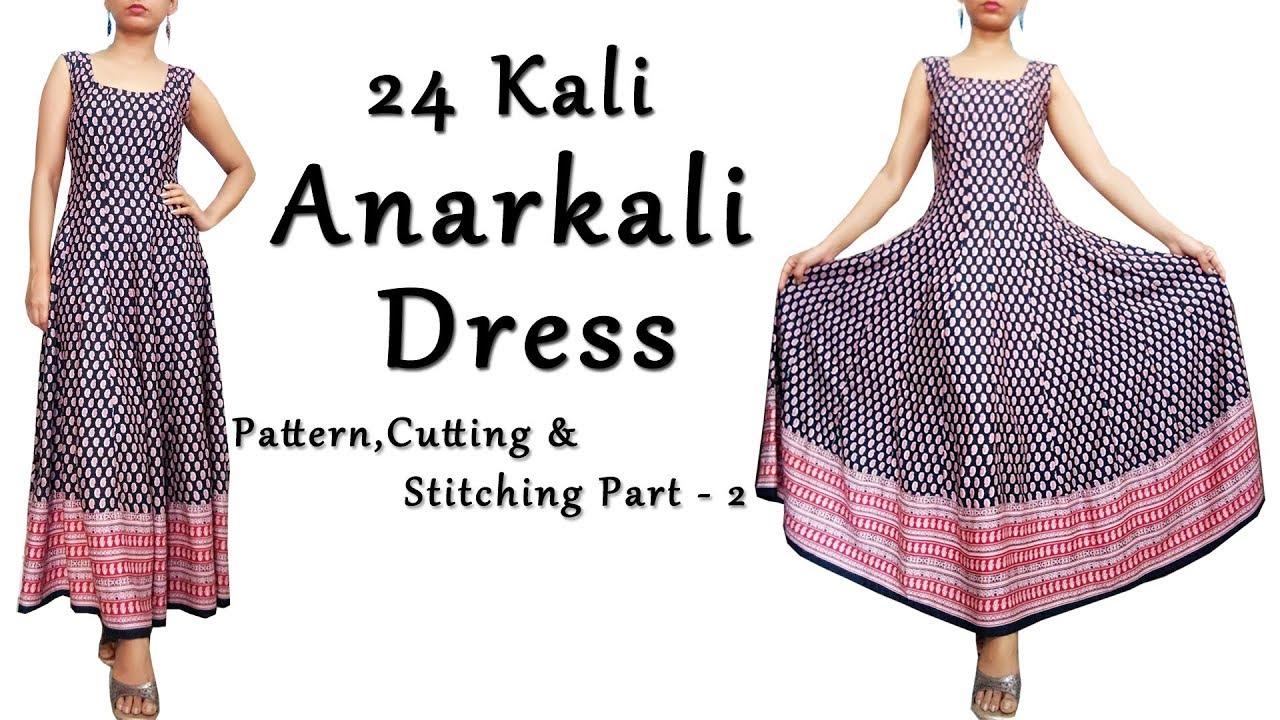 DIY Anarkali Dress with Border